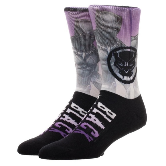8da952f1 Black Panther Sublimated Image Men's Crew Socks Boutique